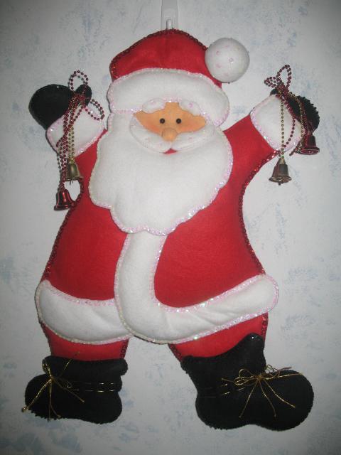 Set De Baño En Pano Lenci:Cara De Santa Claus